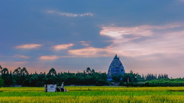 《远眺竹艺博物馆》  何刚 摄