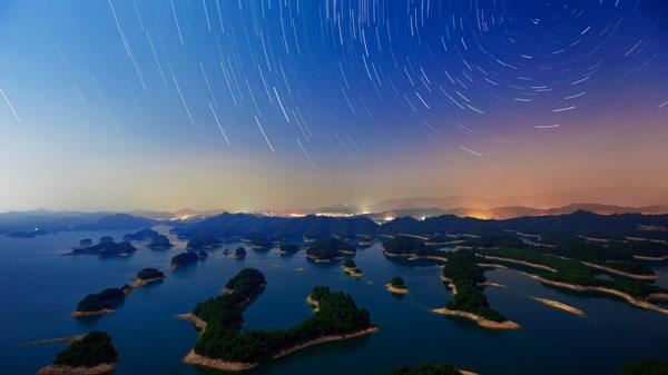 星空下的千岛湖 汪子夏 摄