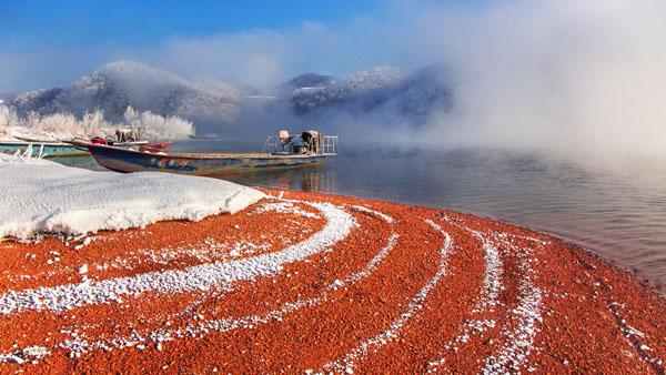 红石湖之冬 郭林 摄