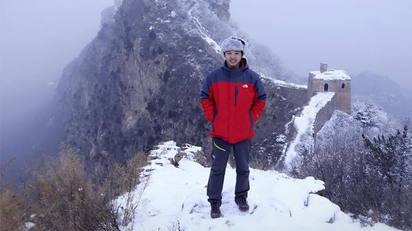我与长城合个影-杨东 摄