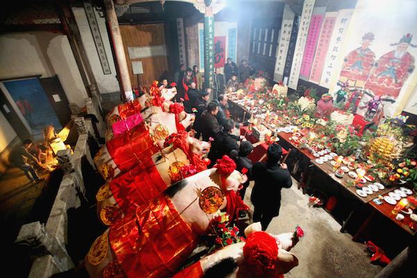 北村祭社 (安徽省非物质文化遗产)-唐小怀 摄