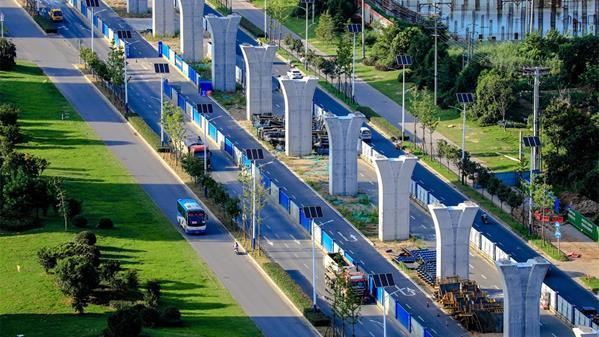 建设中的滁宁城际铁路 田进龙 摄