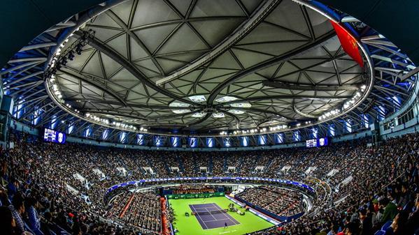 大师杯网球赛在旗忠网球中心 孙新明 摄