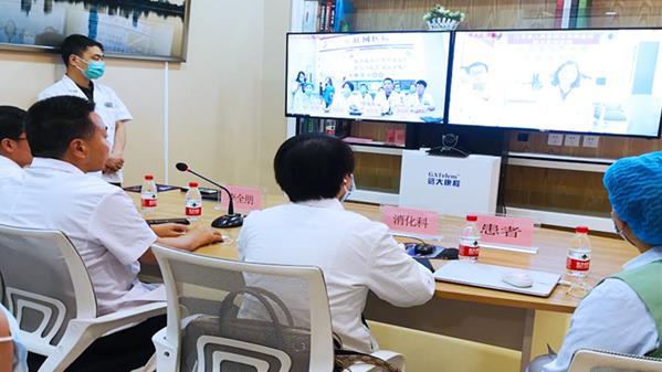 江苏对口支援克州医疗队进行远程会诊 范文琴 摄