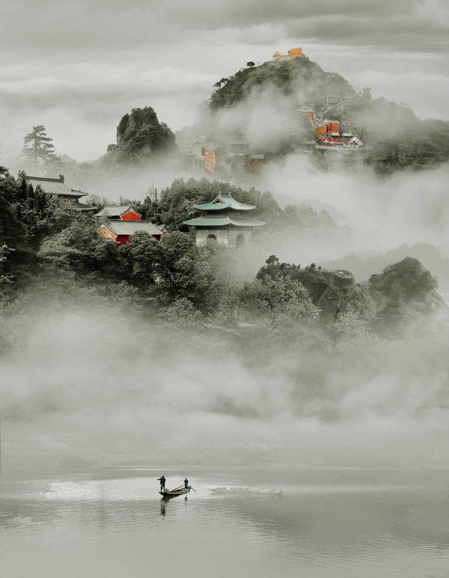 """武当春晓2013""""太极湖杯""""中国武当 国际摄影大展佳作选图片"""