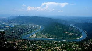 俯瞰太极山水——四川省广元市昭化牛头山景区