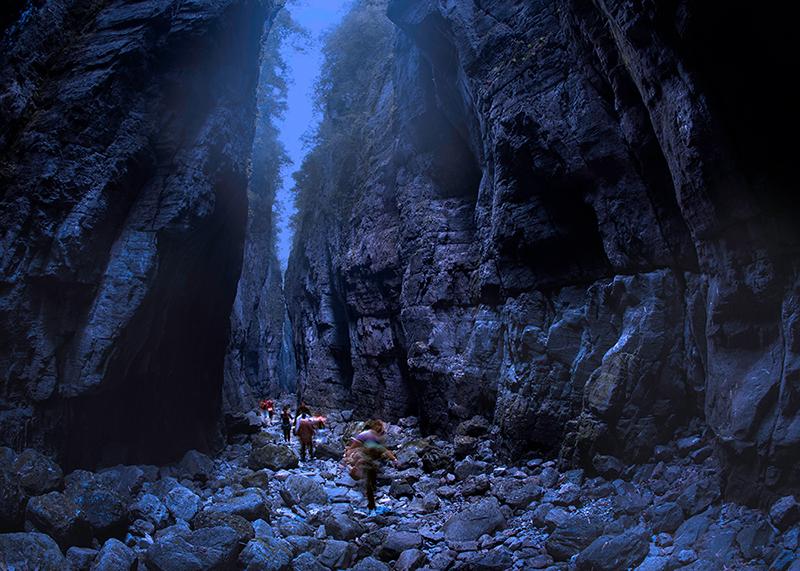 天井峡一线天——重庆市奉节县地缝景区