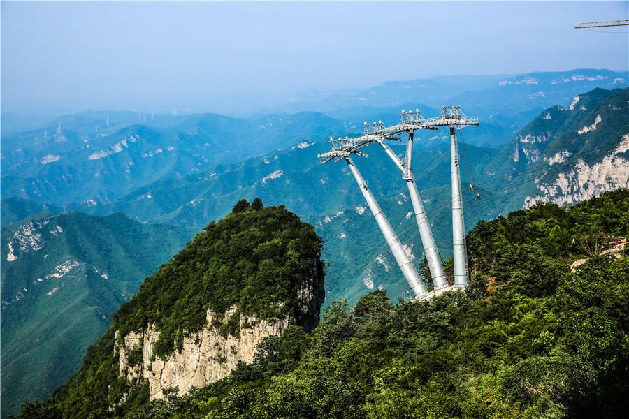 彩笔中国景区风景画