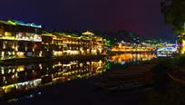 《静谧沱江夜》