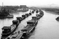 古运河上的船队之一