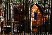 夕阳小木屋
