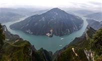 《青山绿水瞿塘峡》