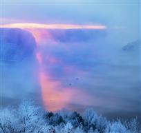 白山湖之晨