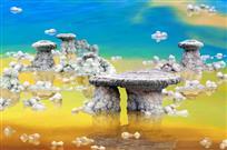 梦幻的五彩湖
