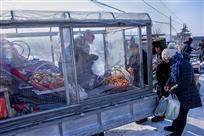 自带暖棚的水果售货车