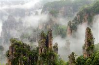 雾漫吻奇峰